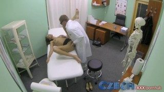 Czech Doctor Makes Sexy Patient With Amazing Boobs Gush for the First Time