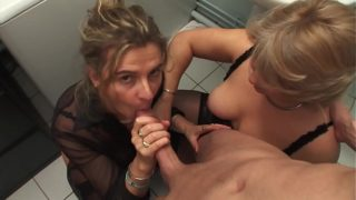 2 Step Mothers Go Lunatic on a Big Cock